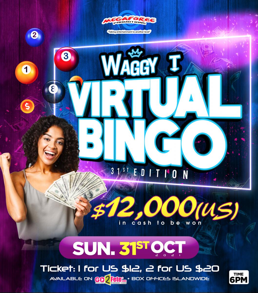 Waggy T Virtual Bingo - 31ED - Oct 31st
