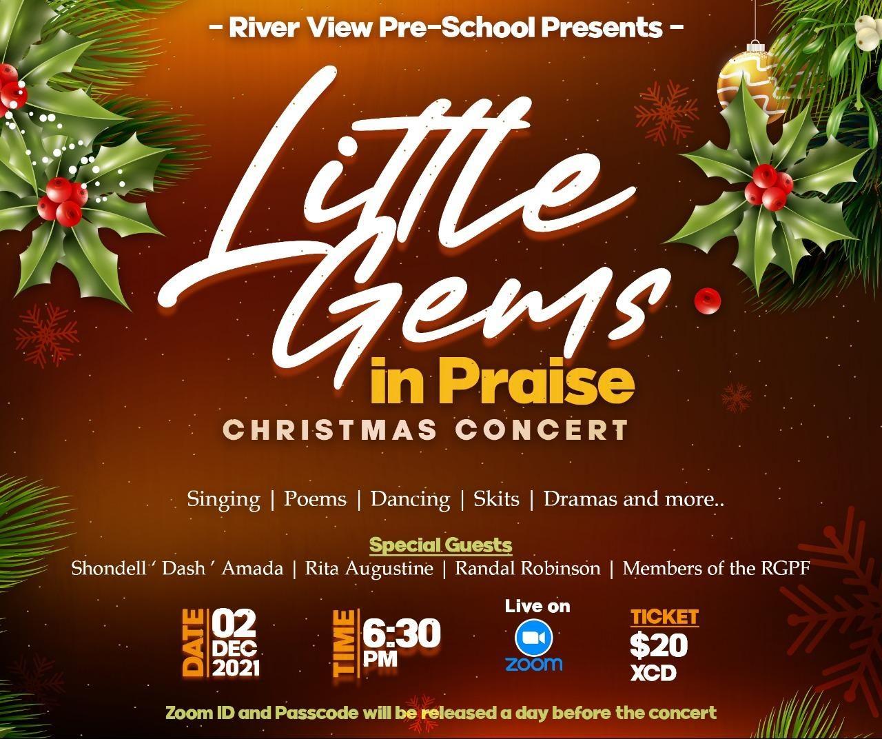 Little Gems in Praise Virtual Christmas Concert Dec 2nd