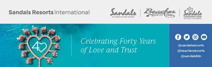 SANDALS® RESORTS INTERNATIONAL CELEBRATES CARIBBEAN EXCELLENCE AT THE 2021 WORLD TRAVEL AWARDS