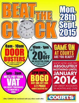 Beat D clock @ Courts