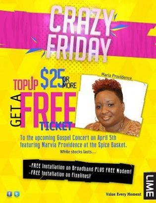 Crazy Friday Offer at LIME Grenada