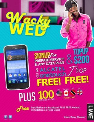 Wacky Wednesday at LIME Grenada