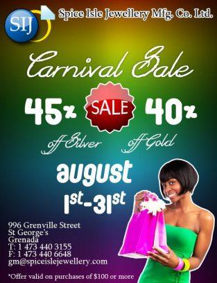 Spice Isle Jewellery Carnival Sale!