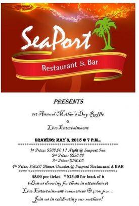 Seaport Restaurant - 1st Annual Raffle